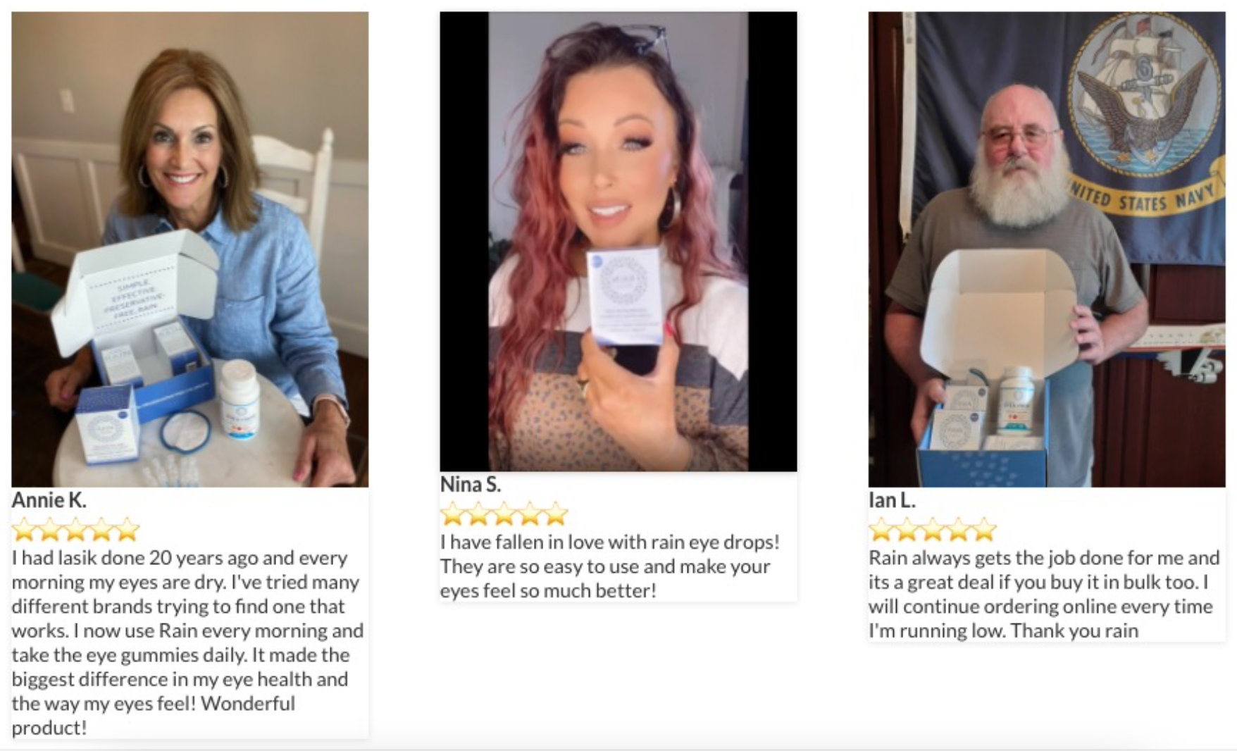 Rain Eye Drops Real Review From Customers.